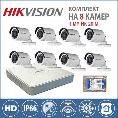 Комплект Эконом HD 8 камер для дачи