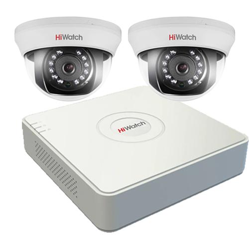 Видеонаблюдение для офиса на 2 камеры Эконом HD
