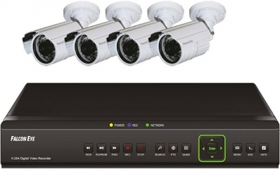 Комплект на 4 камеры FALCON EYE FE-104D-KIT ДАЧА