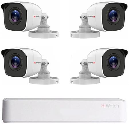 Комплект видеонаблюдения для улицы на 4 камеры